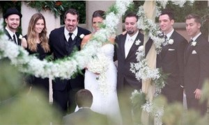 Former Dukes Soccer Star Karly Skladany marries that other guy (Chris Kirkpatrick) from N'Sync w/ JT in the wedding party!