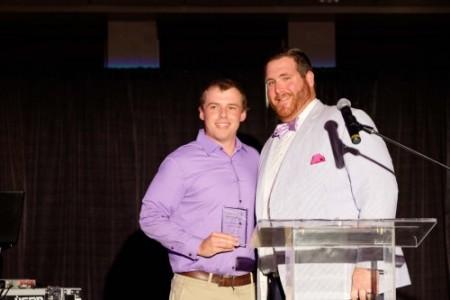 Justin picking up his Iron Duke award!