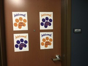 If these signs on a dorm-room door don't make you smile (and maybe throw up in your mouth a bit) I don't want to know you!